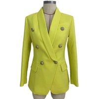 Fashion women clothing double breasted office wear blazer ladies coat jacket