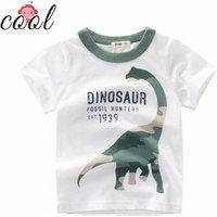 2019 summer new  kids clothing printed  cotton casual  boy dinosaur short sleeve t shirt