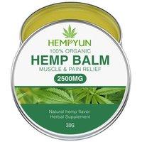 Muscle Body Hemp Balm - Ultra Strong Natural Pain Relief - 2500mg Hemp Extract