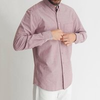 Modern Men Regular Fit Long Sleeve Dress Shirt Button Down Collar Chest Pocket Adjustable Button Up Cuffs Cotton Shirt