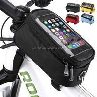 Practical Bicycle Bags Cycling Waterproof Touch Screen Frame Front Tube Storage Mountain Bike Bag for 5.5 inch