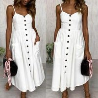 2018 Summer Dress Women Dress Strapless Loose Long Maxi Dress