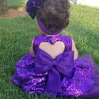 Flower Girl Baby Dress Princess Gown With Heart Sequins Bow Party Wear Kids Dress Y10487