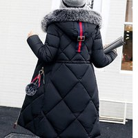Thickened parka women Long winter coat   ladies down parka down jacket women