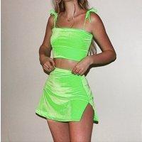 two piece set crop tank top mini skirt 2019 summer autumn women elegant sexy 2 piece tracksuit