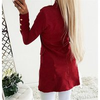 2019 New Arrival Fashion Lady Retro Solid Color Suits Jacket Women Long Sleeve Casual Tops Blazers