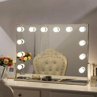 Bathroom Make Up Hollywood 20X 30 X Magnifying Vanity Led Makeup Mirror With Light Bulb
