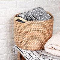 QJMAX Amazon Good Sale Multifunctional Custom Rattan Basket