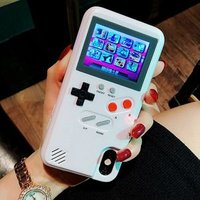 Full color display Game phone cases chargeable smartphone case gameboy phone case for iphone xs max