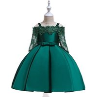Baby Girl Dresses Party Evening Dress For Children Lace Kids Gown