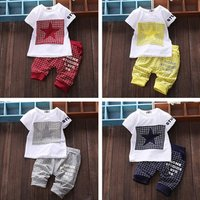 Two Pieces Boys Set Summer Short Clothing Set Baby Boy Outfits
