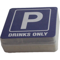 'Square Absorbent Paper Cup Coaster/ Coffee Drink Paper Mat