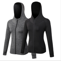 Ladies Fall/Winter Fitness Jacket Zipper Sports Casual Hoodie Jacket for Yoga Training Running