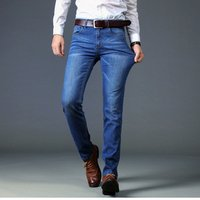 New Mens Jeans Casual Slim Fit Straight Stretch Pantalones Jeans Men Hot Sell Male Trousers Denim Pants Y11050
