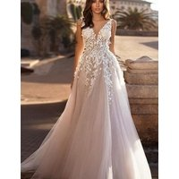 Gorgeous deep back appliqued bridal wedding dress gowns new design