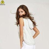 New arrival custom sleeveless oversize women crop top hoodie