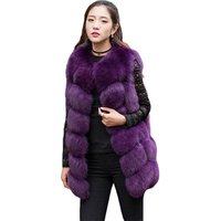 2018 Factory Hot Winter Warm Ladies Fur Gilet Waistcoat Faux Fox Fur Vest Women
