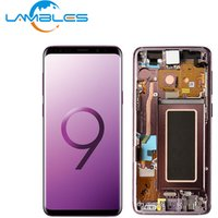 Mobile Phone LCD For Samsung S9 LCD Touch Screen Display Digitizer Assembly Replacement With Frame