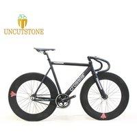 Fixed Gear Bike 54cm fame 90mm rim single speed bike Smooth Welding frame DIY Aluminum alloy Customize Track lOEM Bicycle