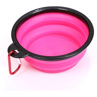 '2018 Hot Sell Amazon Collapsible Dog Bowl, Foldable Expandable Cup Dish For Pet Cat Food Water Feeding Portable Travel Bowl
