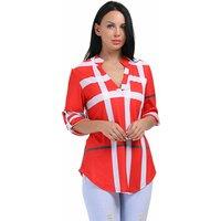 Summer Fashion V Neck Tops Half Sleeve Casual Women Chiffon Blouse