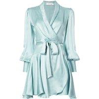OEM V Neck Long Sleeve Wrap Belt Dress