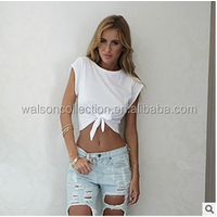 Sexy Women Sleeveless Camisole Shirts New Lacing Summer Casual Blouse Crop Tops