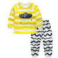 100% Cotton Autumn Boutique Clothing Set Child Evening Sleepwear Baby Clothes Girl