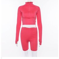sexy crop top and shorts two piece set tracksuit women twotwinstyle 2 piece sets womens outfits new product