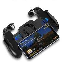 Smart Phone Joystick Game Mobile Controller Grip Smartphone Cooling Fan Gamepad