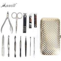 12PCS Stainless Steel Dead Skin Remover Manicure Set Toe Tweezer Pedicure Tools Nail Art Clipper Kit