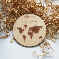 Table mats and coasters Personalized Laser Engrave Round wooden Coasters | bamboo Wood Cut Table Coaster set