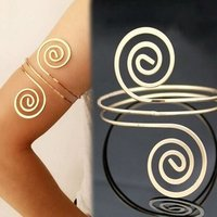 Fashion Bracelet and Bangle Bohemian Ethnic Upper Arm Bracelet Gold Color Vintage Arrow Cuff Bangle Open Bangle Arm Cuff B0594