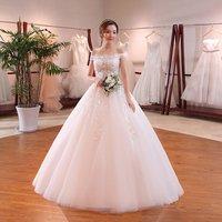 High quality Backless A-Line Off-Shoulder wedding dress for marring