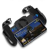 Mobile Gaming GamePad Cooler Cooling Fan Fire Mobile Game Controller Gamepad Joystick Metal L1 R1 Trigger