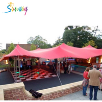 Tensile stretch pole tent for party, best marqueen tent, sunshade tent for sale