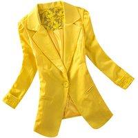 Women Blazers Lace Long Sleeve Jackets Single Button Coat Slim Office Lady Jacket Female Tops Blazer Feminino Y10641