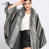 2019 Hot Fashions Best Quality Fur Capes Faux Fur ladies Shawl winter  jacket women coat  jacket