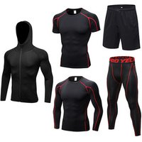2019 FREE SHIPPING Men Breathable Fitness Sport Suit Basketball Football Tennis Fitness Gym Tight Tracksuit For Men Running Sets