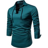 2018 new casual dark green men long sleeve wholesale mens dress shirts