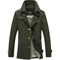 stylish  business mens beige jacket fashion youth slim mens trench coat