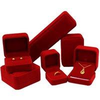 Custom Jewelry Packing Set Velvet Box For Rings, Bracelets, Earrings, Necklace
