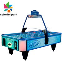 Colorful Park Coin Operated Sport Air Hockey Table Arcade Game for 2 Players Machine