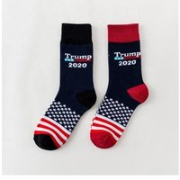 'Wholesale Latest Design Trump 2020 Lover Socks Sports Leisure Cotton Socks With American Flag