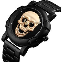 SKMEI Skull Watch Men Watches Luxury Brand Quartz Watch Sport Waterproof Stainless Steel Male Wristwatch Reloj Militar Clock