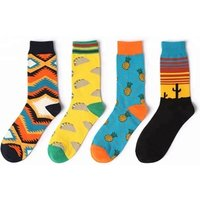 Wholesale Boxes Cotton Comfy Women Aqua Dress Funny Socks Men