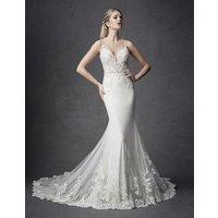Sexy Backless Spaghetti Strap Beaded Lace Luxury Mermaid Wedding Dress Wedding Gown Dress Bridal