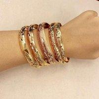 Cheapest Fashion Custom Wedding India Bangle Bracelets Charm Women Gold Plated Bangle