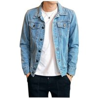 Solid Casual Slim Mens Denim Jacket Plus Size 4XL Bomber Jacket Men High Quality Cowboy Mens Jean Jacket Chaqueta Hombre