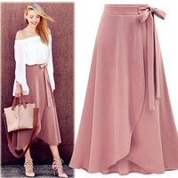 sexy women ladies girls boho high waist maxi midi long wrap office circle  table  skirt
